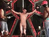 2 Doms Tie Slave to Fr