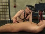 Jerking off the slave