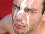 Gay Boys Huge Creampie Facial from Man Buttered