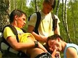 Three Boys Outdoors